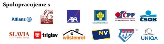 Spolupracujeme s těmito pojišťovnami